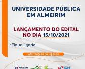 Universidade Pública Em Almeirim – Lançamento do Edital no Dia 15/10/2021