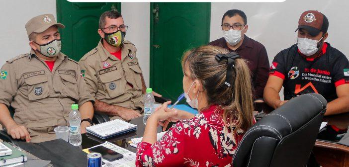 Corpo de Bombeiros em Almeirim – Visita da equipe do corpo técnico de bombeiros do estado